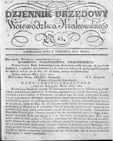 Dziennik Rządowy Województwa Krakowskiego 1834, nr 23