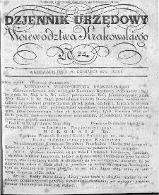 Dziennik Rządowy Województwa Krakowskiego 1834, nr 24