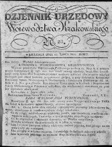 Dziennik Rządowy Województwa Krakowskiego 1834, nr 28