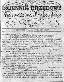 Dziennik Rządowy Województwa Krakowskiego 1834, nr 29