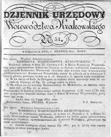 Dziennik Rządowy Województwa Krakowskiego 1834, nr 31