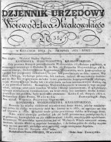 Dziennik Rządowy Województwa Krakowskiego 1834, nr 35