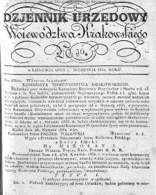Dziennik Rządowy Województwa Krakowskiego 1834, nr 36