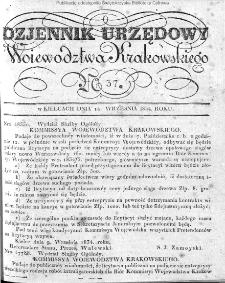 Dziennik Rządowy Województwa Krakowskiego 1834, nr 37