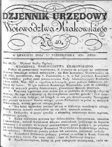 Dziennik Rządowy Województwa Krakowskiego 1834, nr 40