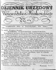 Dziennik Rządowy Województwa Krakowskiego 1834, nr 43