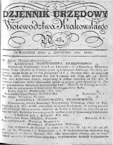 Dziennik Rządowy Województwa Krakowskiego 1834, nr 45