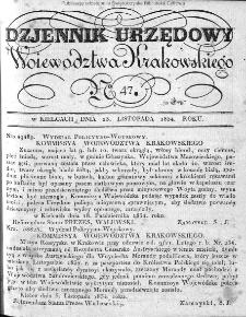 Dziennik Rządowy Województwa Krakowskiego 1834, nr 47