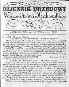 Dziennik Rządowy Województwa Krakowskiego 1834, nr 48