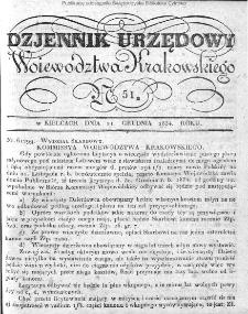 Dziennik Rządowy Województwa Krakowskiego 1834, nr 51