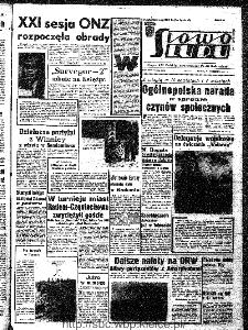Słowo Ludu : organ Komitetu Wojewódzkiego Polskiej Zjednoczonej Partii Robotniczej, 1966, R.18, nr 264