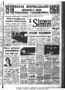 Słowo Ludu : organ Komitetu Wojewódzkiego Polskiej Zjednoczonej Partii Robotniczej, 1968, R.20, nr 312