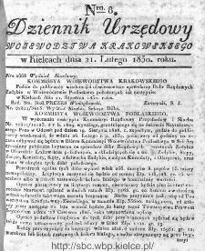 Dziennik Rządowy Województwa Krakowskiego 1830, nr 8