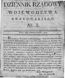 Dziennik Rządowy Województwa Krakowskiego 1816, nr 3