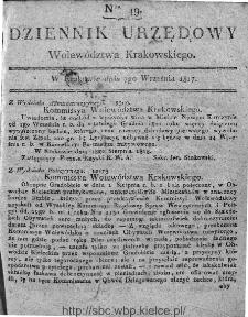 Dziennik Rządowy Województwa Krakowskiego 1816, nr 49