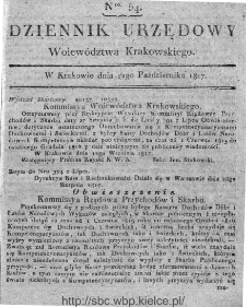 Dziennik Rządowy Województwa Krakowskiego 1816, nr 54