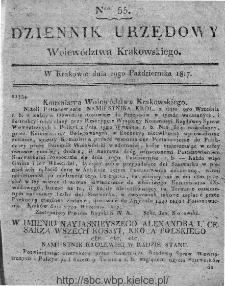 Dziennik Rządowy Województwa Krakowskiego 1816, nr 55