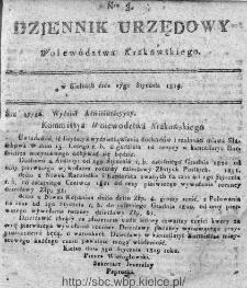 Dziennik Rządowy Województwa Krakowskiego 1819, nr 3