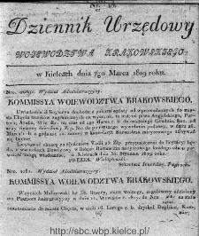 Dziennik Rządowy Województwa Krakowskiego 1819, nr 10