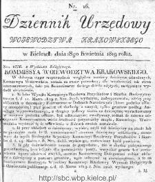 Dziennik Rządowy Województwa Krakowskiego 1819, nr 16