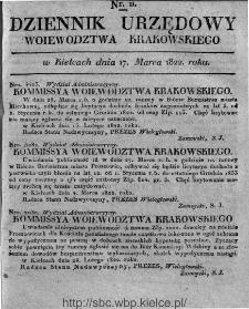 Dziennik Rządowy Województwa Krakowskiego 1822, nr 11