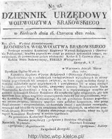 Dziennik Rządowy Województwa Krakowskiego 1822, nr 25