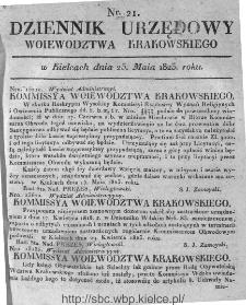 Dziennik Rządowy Województwa Krakowskiego 1823, nr 21