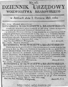 Dziennik Rządowy Województwa Krakowskiego 1823, nr 23