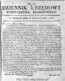 Dziennik Rządowy Województwa Krakowskiego 1823, nr 24