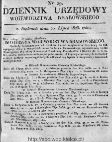 Dziennik Rządowy Województwa Krakowskiego 1823, nr 29