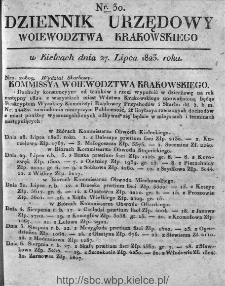 Dziennik Rządowy Województwa Krakowskiego 1823, nr 30