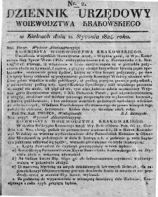 Dziennik Rządowy Województwa Krakowskiego 1824, nr 2