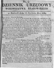 Dziennik Rządowy Województwa Krakowskiego 1824, nr 4