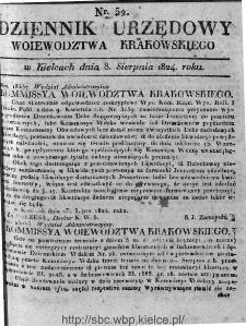 Dziennik Rządowy Województwa Krakowskiego 1824, nr 32