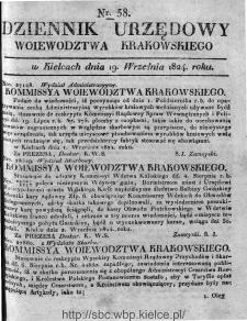 Dziennik Rządowy Województwa Krakowskiego 1824, nr 38
