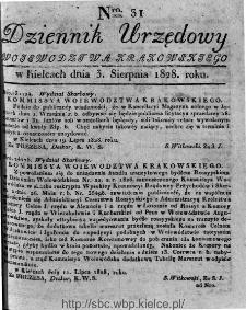 Dziennik Urzędowy Województwa Krakowskiego 1828, nr 31