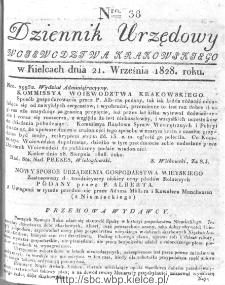 Dziennik Urzędowy Województwa Krakowskiego 1828, nr 38