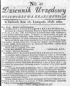 Dziennik Urzędowy Województwa Krakowskiego 1828, nr 46