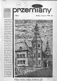 Przemiany : miesięcznik społeczno-kulturalny, 1970, R.1,wrzesień