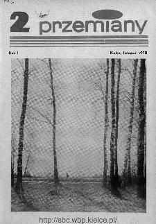 Przemiany : miesięcznik społeczno-kulturalny, 1970, R.1,listopad