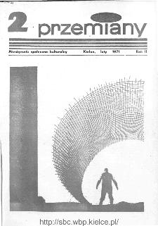 Przemiany : miesięcznik społeczno-kulturalny, 1971, R.2,luty