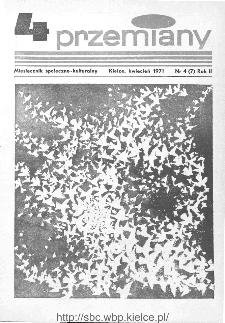 Przemiany : miesięcznik społeczno-kulturalny, 1971, R.2,kwiecień