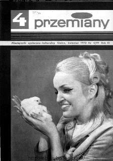 Przemiany : miesięcznik społeczno-kulturalny, 1972, R.3, kwiecień