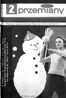 Przemiany : miesięcznik społeczno-kulturalny, 1973, R.4,luty