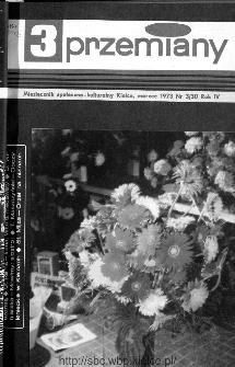 Przemiany : miesięcznik społeczno-kulturalny, 1973, R.4,marzec