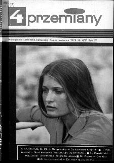 Przemiany : miesięcznik społeczno-kulturalny, 1973, R.4,kwiecień