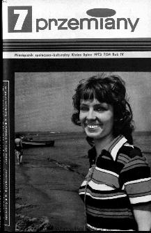Przemiany : miesięcznik społeczno-kulturalny, 1973, R.4,lipiec