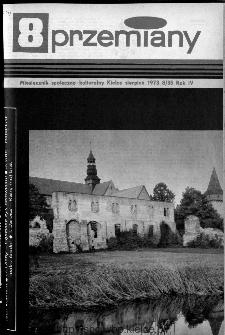 Przemiany : miesięcznik społeczno-kulturalny, 1973, R.4,sierpień