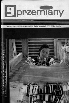 Przemiany : miesięcznik społeczno-kulturalny, 1973, R.4,wrzesień