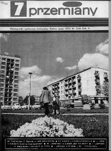 Przemiany : miesięcznik społeczno-kulturalny, 1974, R.5,lipiec
